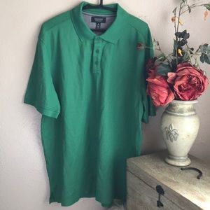 Nordstrom Mens Shop Polo T Shirt XL Green Cotton